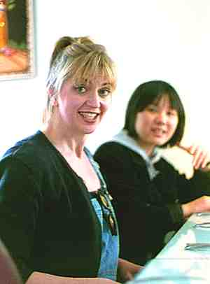 Margaret Lancaster (left) and Kui Dong